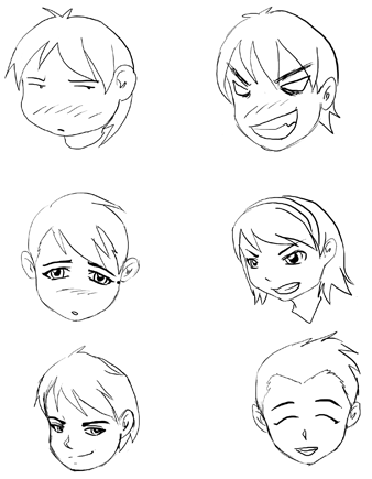 Drawing Manga Expressions And Emotions How To Draw Step By