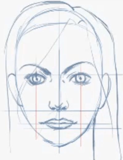 how to draw female faces in correct proportions with easy drawing