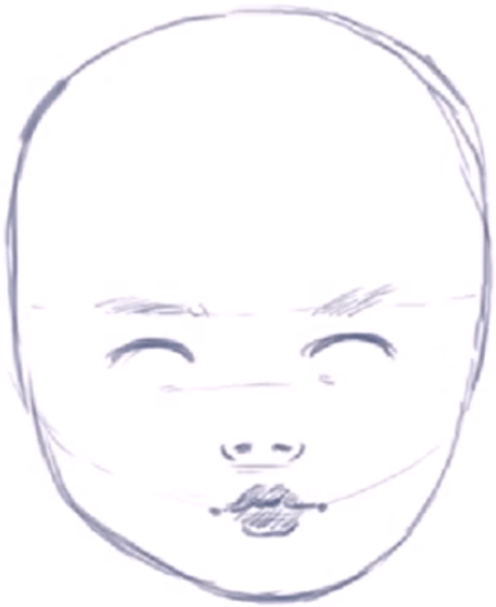 How To Draw A Baby S Face Head With Step By Step Drawing