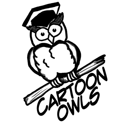 How to Draw Owls with Simple Steps to Cartooning a Comic Owl with ...
