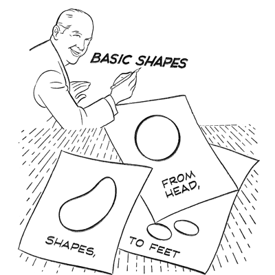 Easy Cartoon Characters To Draw With Basic Shapes For Kids How