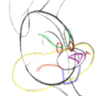 how to draw a bunny face easy