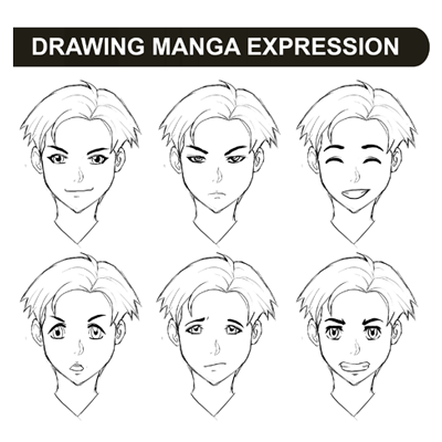 anime eyes drawing. Drawing Manga Expressions and