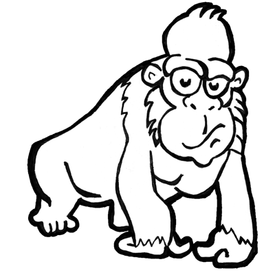 How to Draw Cartoon Gorillas / Apes with Easy Step by Step ...