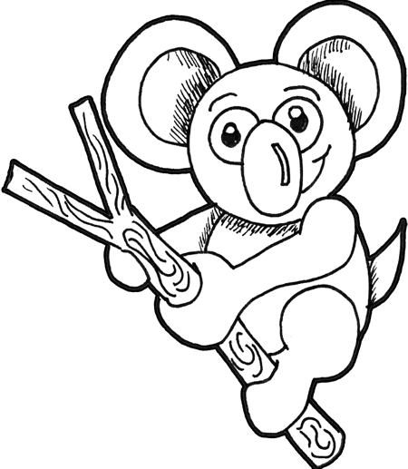 How to Draw Koalas (Cartoon Koala Bears) with Easy Step by ...