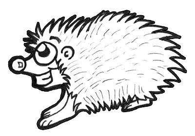 step 9 finished cartoon porcupine drawing tutorial