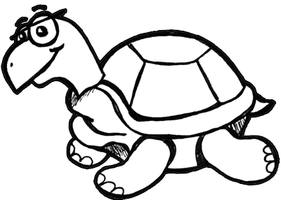 How to Draw Cartoon Turtles with Easy to Follow Drawing Lesson
