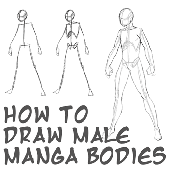 How to draw anime body with step by step tutorial for drawing male manga bodies
