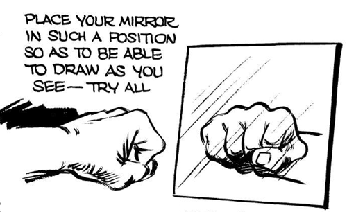 Try To Foreshorten The Hand By Drawing It In The Mirror