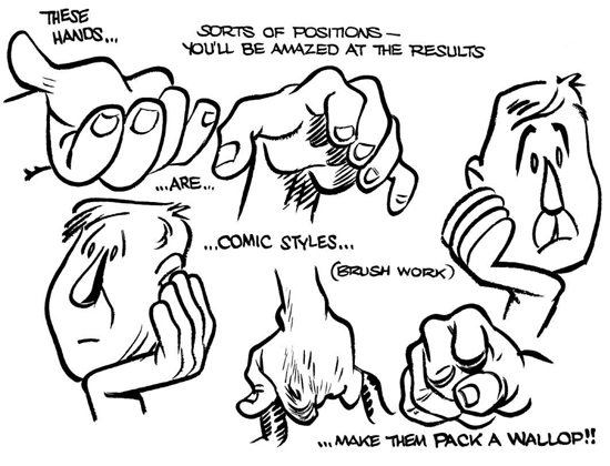Drawing Hands How To Draw Comic Cartoon Hands With Easy Steps