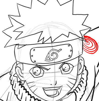 How to Draw Naruto Uzumaki with Easy Step by Step Drawing ... | 400 x 406 png 45kB