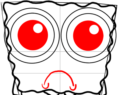 How To Draw Depressed And Crying Spongebob Squarepants