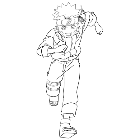 How To Draw Naruto Uzumaki With Easy Step By Step Drawing