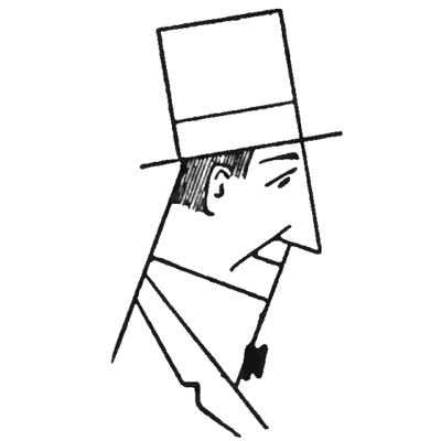 easy to draw man with top hat step by step drawing lesson for kids