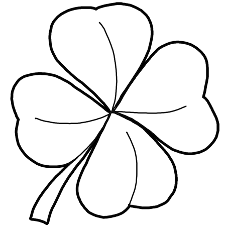 how to draw 4 leaf clovers shamrocks for st patricks day