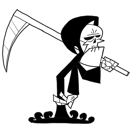 How to Draw Grim from Grim Adventures of Billy and Mandy Drawing