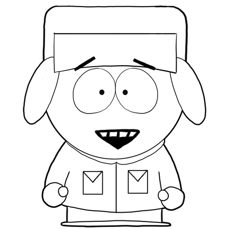 how to draw kyle broflovski from south park with easy step by step