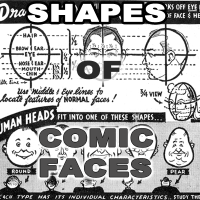 Proportions and Shapes of Comic Human Faces / Heads - Cartooning ...