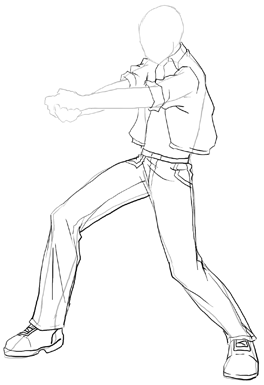 Anime Action Scenes How To Draw Manga Poses Step By