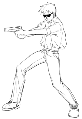 Anime Action Scenes How To Draw Manga Action Poses Step