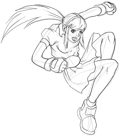 anime boy sketch. Drawing Anime / Manga Action