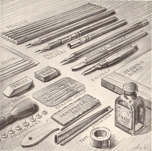 pencil drawing art supplies equipment that pencil artists need