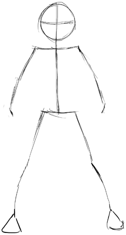 how to draw easy anime legs