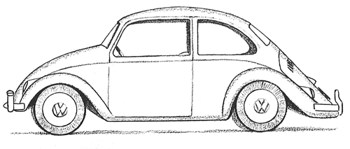 How to Draw a Volkswagen Beetle Punch Buggy with Easy ...