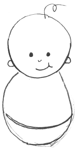 how to draw a easy baby