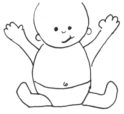 How To Draw Cartoon Baby With Easy Drawing Lesson For Kids How To