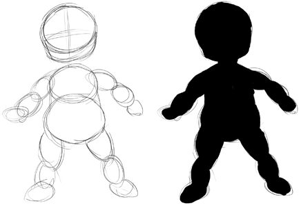 how to draw babies body
