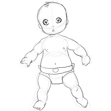 how to draw a baby drawing babies step by step lesson