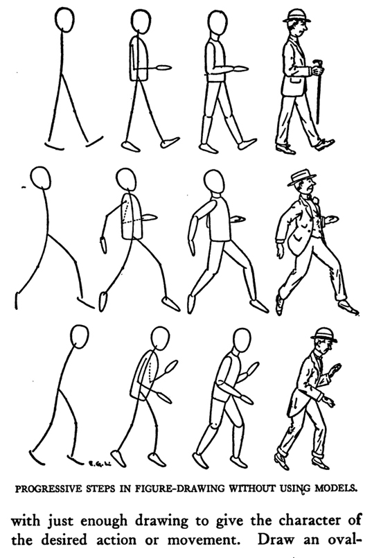 Guide to drawing proportional human figures without using models if