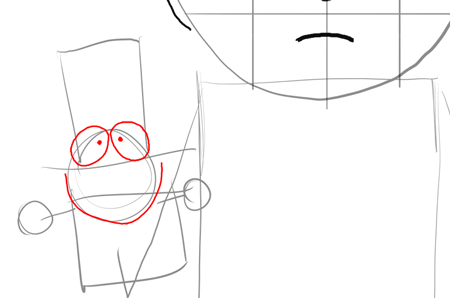 Step 8 : Drawing Mr. Garrison and Puppet Mr. Hat Step by Step