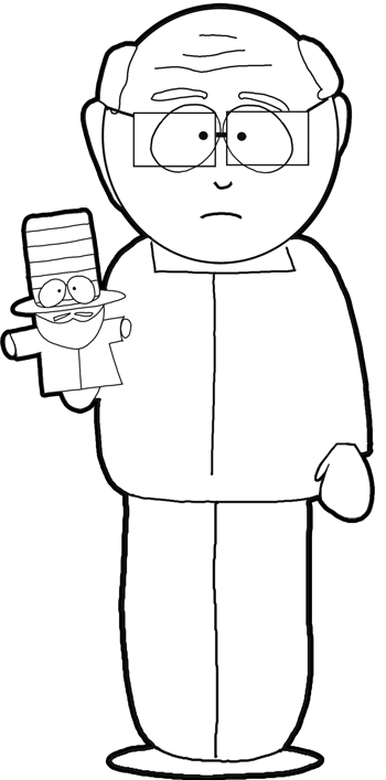 How to Draw Mr. Garrison from South Park in Easy Steps Drawing Tutorial